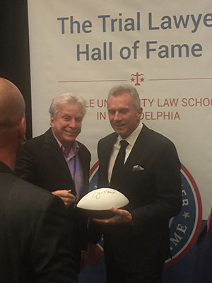 Attorney Lewis Small and Joe Montana
